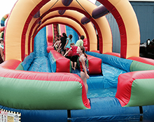 Everybody wants to try our inflatable slides!
