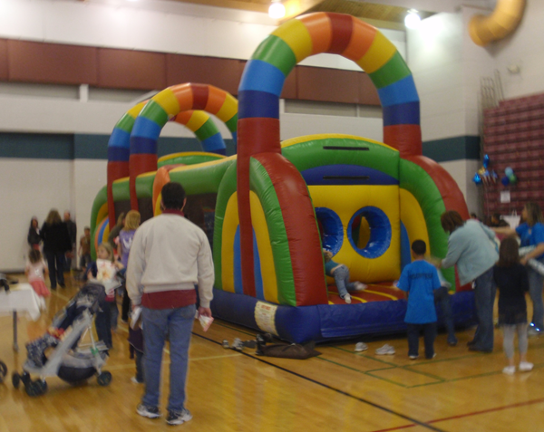 Bring the obstacle inside for a fun indoor event